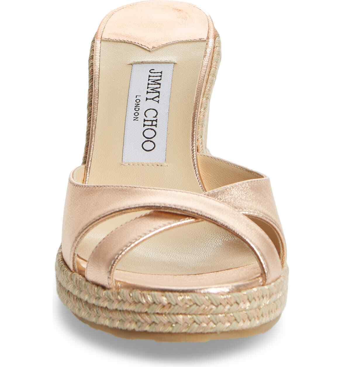 JIMMY CHOO Almer Wedge Slide Sandals Size 35.5