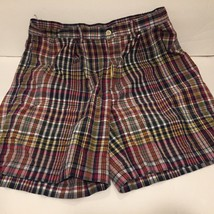 Polo Ralph Lauren Multi-Color Plaid Tyler Shorts Blue Green Yellow Red Size 33 - $17.81
