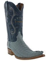 Mens Genuine Baby Blue Alligator Crocodile Leather Western Cowboy Boots ... - £172.16 GBP