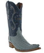 Mens Genuine Baby Blue Alligator Crocodile Leather Western Cowboy Boots ... - £170.56 GBP