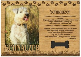 Schnauzer Engraved Wood Picture Frame Magnet - $11.58