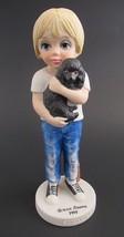 Margaret Keane Big Eyed Child A Boy and His Dog Figurine Dave Grossman 1... - $22.50