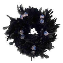 Wreath Black Natural Cocktail Feather, Wreath with Eye, Halloween Decora... - £20.79 GBP