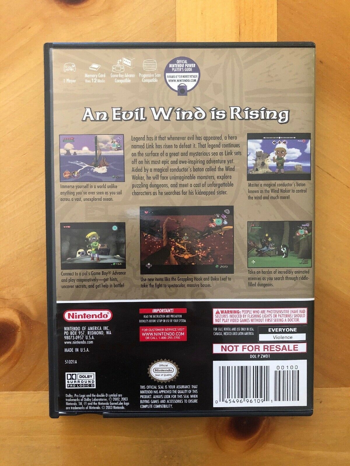 The Legend Of Zelda The Wind Waker 2-Game Bonus Disco, Nintendo Gamecube, Cib image 3