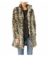Anthropologie Leopard Faux Fur Coat by Cupcakes and Cashmere Sz M - NWT - $152.99