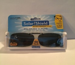 Gentle Grip Solar Shield Scratch Resistant Lenses Polarized Clip-ons 56 ... - $13.09
