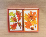 Vintage hallmark autumn leaves bridge playing cards in plastic case thumb155 crop