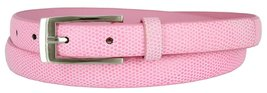 7045 Women's Skinny Lizard Embossed Leather Casual Dress Belt (Pink, XX-Large) - $6.92
