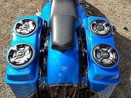 "Dual 6.5"" Round Saddlebag Speaker Lids Harley Bagger Flh Replace Hd Hd Oem Lids - $130.00"