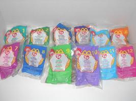 Ty Teenie Beanie Baby McDonald's 1999 set of 12 : China Made : P.E. Pellets - $18.26