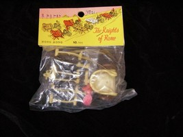The Knights Of Rome Chariot  Hong Kong Play Set Figures Vintage 1960s - $15.99