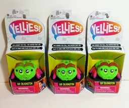 Lot of 3 Yellies! Sir Silkington Pet Toy Spider Interactive Voice Activated - $21.29