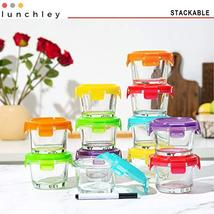 Glass Baby Food Storage Containers with Lids | Set of 12 | 4 oz Glass Food Conta image 3