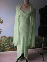 B'Dazzle Women Green Trailing Chiffon Evening Beaded Dress Size 4 - $78.21