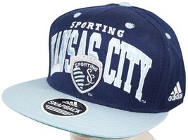 SPORTING KANSAS CITY MLS SOCCER BLUE HAT - ADIDAS BRAND ONE SIZE 2012 USED - $19.88