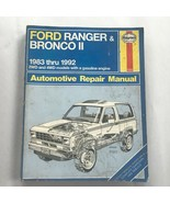 Ford Ranger & Bronco II  1983-1992 Haynes Repair Manual, Service Guide Book - $12.38