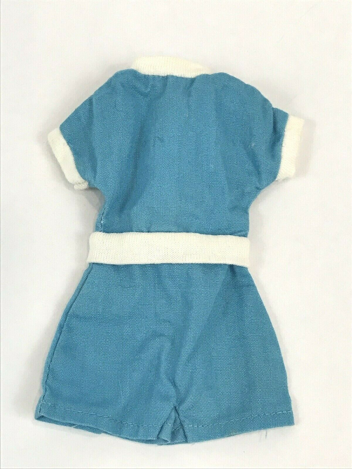 Vintage Ideal Tammy Doll Clothes Blue White Romper Shorts Original Outfit - $9.89
