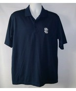 San Diego Padres Polo Golf Shirt by Antigua MLB Baseball Polyester Mens ... - $24.42