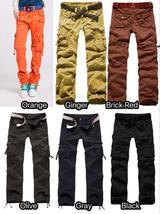 Fashion Womens Cargo Pants Hip Hop Pants Dance Girls Loose Mulit-Pockets Outdoor