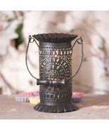 """PRAIRIE"" WAX TART WARMER - Punched Tin Tart Accent Light with Wood Bail... - £28.57 GBP"
