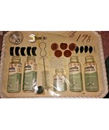 Evenflo NOS 1940's Baby Formula Kit NEW 5 Bottles w/Nipples Caps Brush F... - $90.00