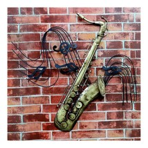 America Vintage Instrument Iron Wall Hanging Decoration   saxophone - $72.85