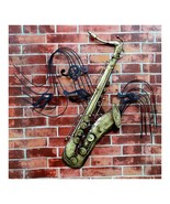 America Vintage Instrument Iron Wall Hanging Decoration   saxophone - $72.85
