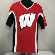 VTG Champion Jersey Wisconsin Badgers Shooting Shirt Basketball Medium 90s - $59.99