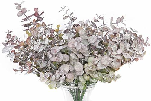 GreenCallow Artificial Eucalyptus Leaves 3 Pcs Faux Indoor