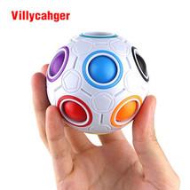 Football Puzzle Toy Cube Magic Ball Rainbow Brain Wooden Teaser 3D Gift ... - $10.61