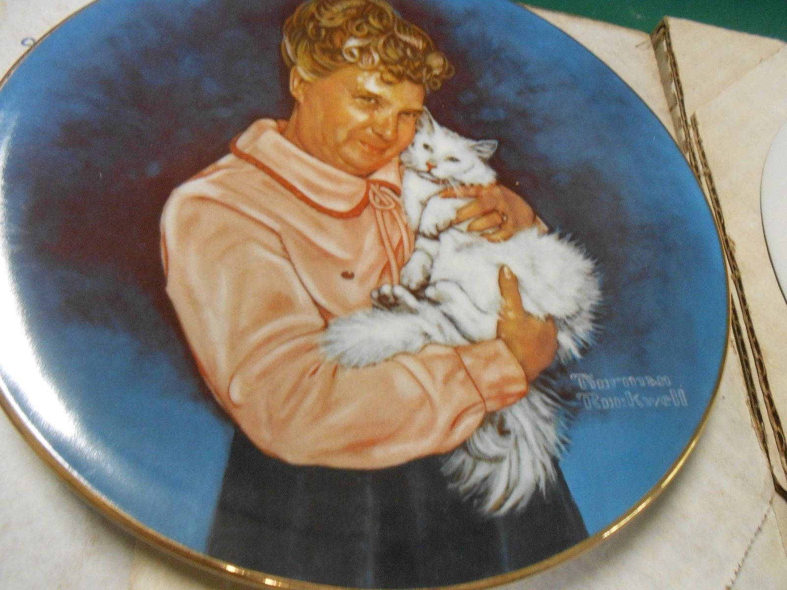 """Great Collection 2 KNOWLES Fine China """"Norman Rockwell"""" COLLECTOR PLATES"""