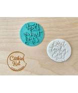 Best Teacher Ever Embosser Stamp, Teacher Embossed Stamp, Teacher Cookie... - $9.89