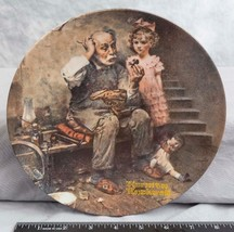 "Knowles Norman Rockwell Collectible Plate ""The Cobbler""  jds - $9.89"
