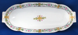 Nippon Celery Dish Hand Painted Roses Porcelain Oval Serving Dish 1910s Platter - $24.00