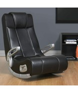 NEW Video Game Chair 2 Speakers + Subwoofer Wireless Black Comfortable S... - $119.99