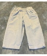 Baby Size 18 Months KRU Supplies Solid Light Gray Grey Corduroy Pants EUC - $10.00