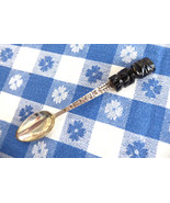 Spoon Sterling Silver And Carved Onyx Mexico Souvenir 925 Marked Coffee ... - $38.00