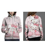 Hello Kitty Hoodie Zipper Fullprint Women - $50.99+
