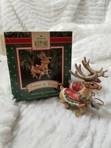 HALLMARK Keepsake PRANCER & VIXEN Santa and his Reindeer CHRISTMAS ORNAM... - $16.99