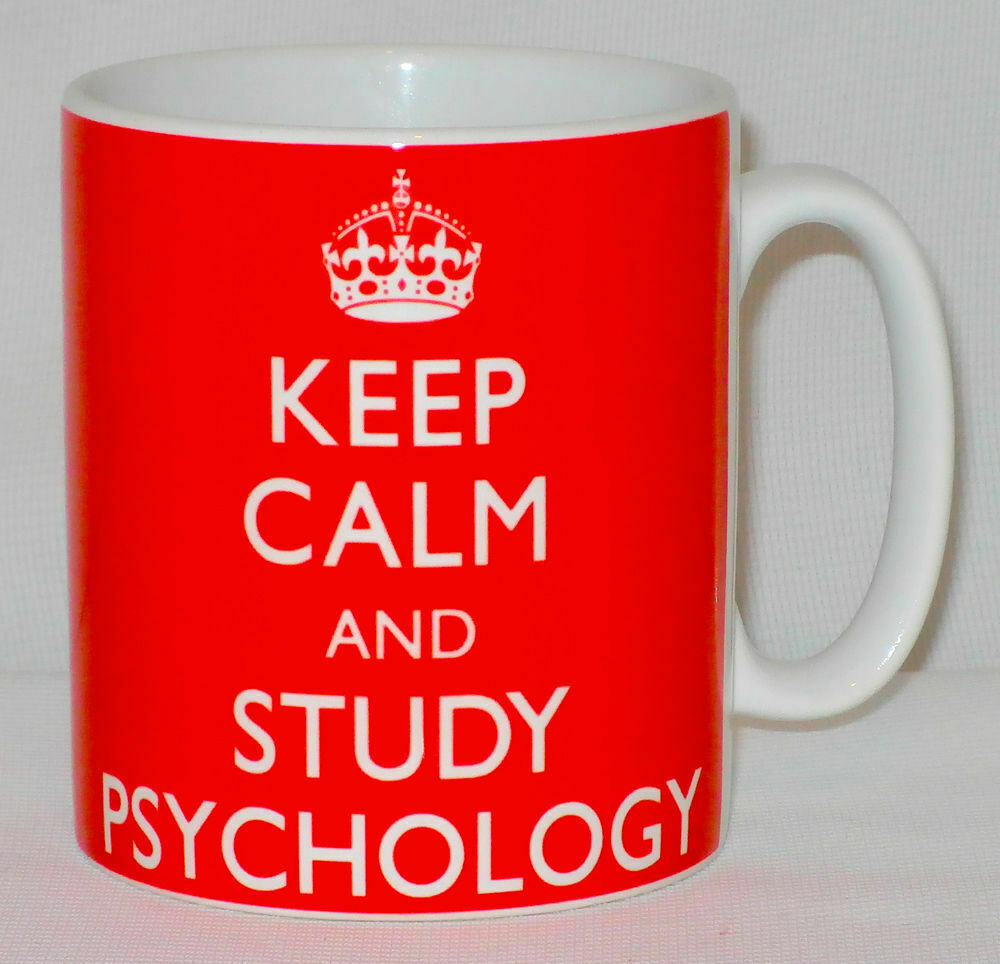 Keep Calm And Study Psychology Mug Can Personalise Great Student University Gift