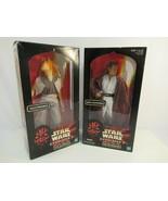 "Star Wars Episode 1 Obi-Wan Kenobe Jar Jar Binks 12"" Action Figure Doll ... - $33.68"