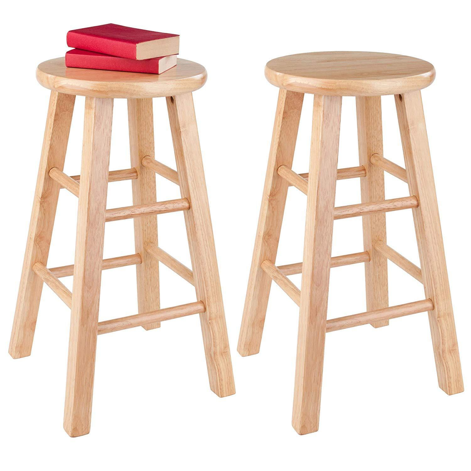 Winsome Wood 83224 Pacey Stool 24 Quot Natural Bar Stools