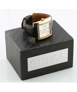 Women's Guess Stainless Steel Quartz Watch W/ Black Leather Band w/ Box ... - $98.72