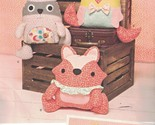 1182 UNCUT Simplicity SEWING Pattern Stuffed Animals Monsters Raccoon Fox Owl FF
