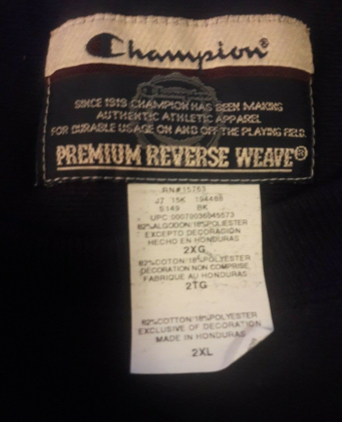 Unsolved Movie Sweatshirt Tupac Biggie USA TV Black Champion Sweatshirt Size 2XL