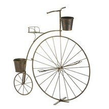 Adorable Iron Vintage Style Old Time Bicycle Planter NEW Patio Garden Ho... - ₨2,780.83 INR