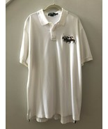 POLO RALPH LAUREN Off White Big Pony Equestrian 100% Cotton Polo Shirt S... - $53.46