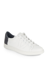 Vince Varin leather Sneaker 9 M Women, NIB, white / denim - $128.69