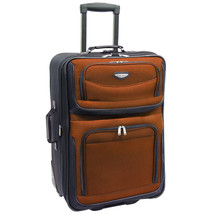 "Travel Select Orange Amsterdam 25"" Expandable Rolling Upright Luggage Su... - $49.49"