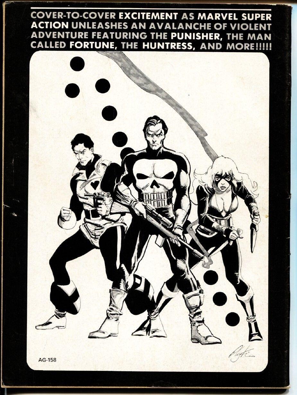 MARVEL SUPER ACTION #1 comic mag 1976- 1st HUNTRESS -MOCKINGBIRD -PUNISHER